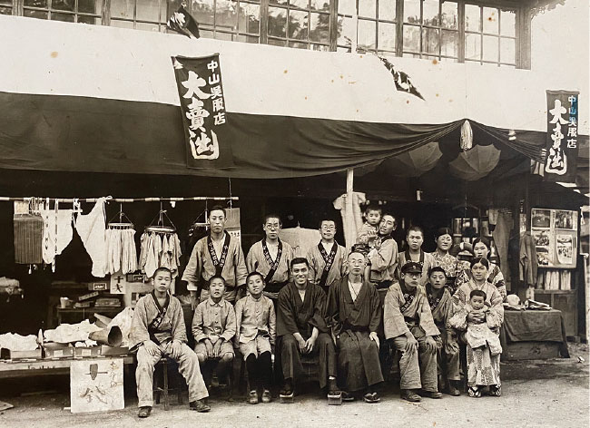 昔のカネヨよねぐち呉服店の写真